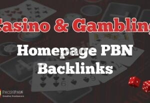 Casino & Gambling Homepage Backlinks