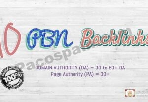 Buy PBN Links From 30 to 50+ DA PA Sites