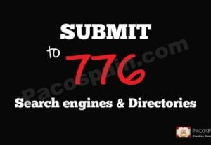 Add your website to 776 search engines & directories